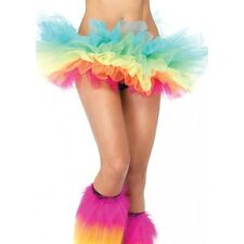 Organza Multi Color Rainbow Tutu Pride Parade Festival Rave Ballet Mini Skirt