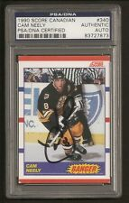 Cam Neely Bruins HOF 1990 Score Canadian Card #340  Signed Auto PSA/DNA