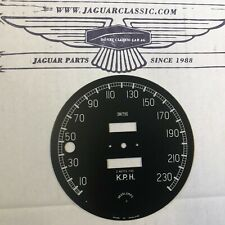 Zifferblatt Tachometer kmh, bis 230, Jaguar XK150, korrekte Replika,