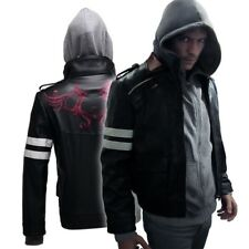 Prototype Alex Mercer Cosplay Hoodie Jacket Embroidered Thick PU Leather Jacket