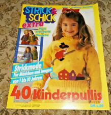 Strick & Schick von 1991 Kinder Bilderpullis und andere Stricken Strickheft