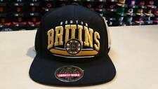 American Needle NHL Boston Bruins Team Script Arch Old School Retro Snapback Cap