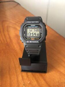 Casio DW5600E-1V G-Shock Chronographic, Alarm, Resin Strap, Mens Wrist Watch