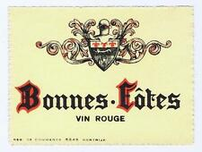 Bonnes Totes, Vin Rouge, 5245, kortrijk, antique red wine label #21