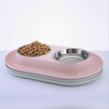 Stainless Steel Dog Double Food Bowls Water Plates Basin Pet Feeding Supplies