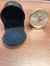 Jaeger LeCoultre Vintage Recital Travel Alarm Clock WORKING