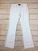 Banana Republic Factory White Cotton Stretch Chino Pants Casual Career Womens 0P