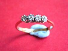VINTAGE 18ct GOLD DIAMOND RING - FOUR STONE DIAMOND RING