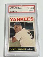 1964 TOPPS ELSTON HOWARD #100 NEW YORK YANKEES PSA 6 EX-MT (DR)