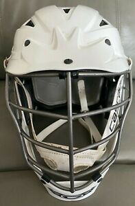 CASCADE CPVS* S/M-R - Small - S/M - WHITE  YOUTH LACROSSE HELMET - Preowned-VG++