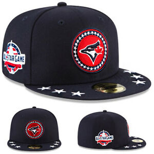 New Era Toronto Blue Jays Navy Fitted Hat Official MLB AllStar Game Patch Cap
