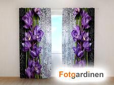 "Fotogardinen ""Blumen"" Vorhang 3D Fotodruck, Fotovorhang, Maßanfertigung"