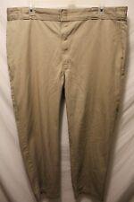 Men's Dickies Flat Front Khaki Work Dress Pants Sz 44x29 Poly Blend