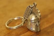 Ancient Greek Themed Keyring - Leonidas The Spartan Helmet 300 Silver Zamac