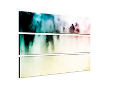 140x90cm Silhouetten Shopping abstrakt Konturen Mensch Druck Leinwand Sinus Art