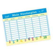 A4 Stundenplan Schulkind - beidseitig bedruckt blau