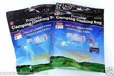 LOT of 2 - Portable Camping & Hiking Cooking Bag with 10 Heating Pads Survival