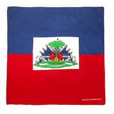 New CTM Cotton Haitian Flag Bandana