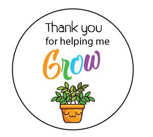 24 x Thank You Teacher Round Stickers Labels Gloss Nursery Pre school Gift