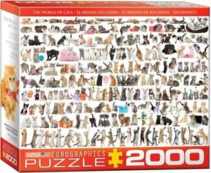 Eurographics World of Cats 2000 piece jigsaw puzzle 38ins x 27ins NEW & SEALED