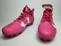 """Under armour Breast Cancer Mens Football Cleats, """"I play for_____."""" Pink sz 11.5"""