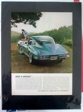 """1964 Chevrolet Corvette Sting Ray cpe """"Ready to Display"""" print car ad gift 1965"""