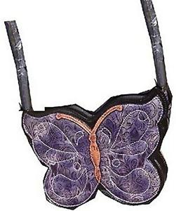 Designer Brentano Butterfly Bag Purse Handbag Collectible Purple New