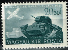 Hungary-Germany Axis WW2 Tanks and Airforce Attack stamp 1941 MNH