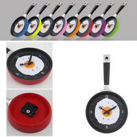 Kitchen Wall Clock Frying Pan Novelty Art Design Metal Home Room Decoration
