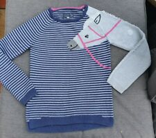 🐴🐎 JOULES GEE GEE Horse Jumper Navy Blue Stripe 11-12 Equestrian Pony Wool Mix