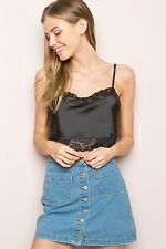 Womens Lace Floral Bralette Bra Bustier Tube Crop Tank Top Cami Tops Vest Blouse