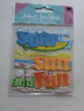 EK SUCCESS JOLEE'S BOUTIQUE Surf Sun Fun Autocollants Entièrement neuf sous emballage