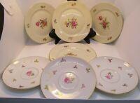 Rosenthal Aida Plates 4 Dessert, 3 Saucers Pink Roses Vintage