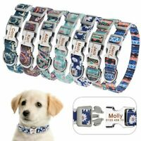 Personalized Dog Collar Durable Nylon Puppy Dogs Pet Name Free Engraved Collars