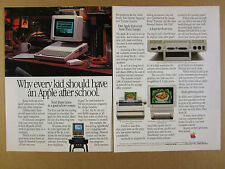 1985 Apple IIc Computer ImageWriter II & Color Monitor IIc vintage print Ad