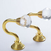2x Metal Crystal Curtain Holdback Wall Tie Back Hooks Hanger Holders Decor Gift