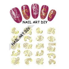 20 Stickers-decals water transfer Golden-Adesivi d'oro per unghie Ricostruzione!