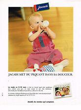 PUBLICITE ADVERTISING 035  1998  JACADI  layette vetements bébé