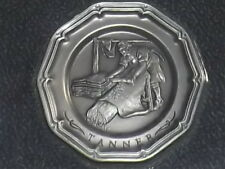 Vintage Franklin Mint Tanner Colonial Craftsman Pewter Plate Miniature