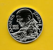 Moneta Argento ( PRE EURO )Svezia 20 Euro 1998 Anders Zorn Proof in Capsula