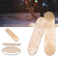 8inch 8-Layer Maple Blank Double Concave Skateboards Natural Skate Deck Board