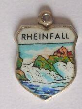 Rheinfall     vintage Silver Enamel Travel Charm