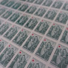 FEUILLE SHEET TIMBRE CROIX ROUGE RED CROSS N°1662 x50 1970 NEUF ** LUXE MNH