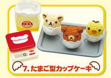Rement Re-Ment Miniature San-X Rilakkuma Kitchen Breakfast egg RARE SET 7