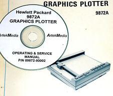 HP 9872A Graphics Plotter, Operating & Service Manual