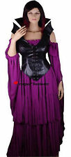 Medieval Purple Black Witch Sorceress Game of Thrones Dress Gown Costume M 10-12