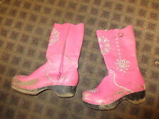 hanna Andersson clog boots pink w silver daisy cut outs sz 35