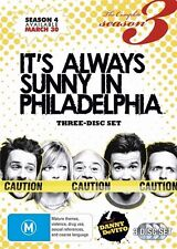 It's Always Sunny In Philadelphia : Season 3 (DVD, 3-Disc ) Region -4, Like new
