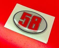 1 Adesivo Stickers SIMONCELLI 58 SIC Tribute 3D Resinato