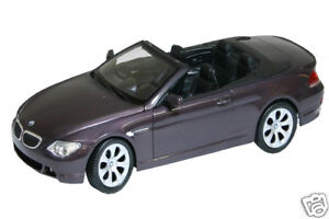 1:18 scale Welly BMW 645CI CONVERTIBLE Moove in Colour Diecast with opening